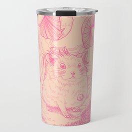 Hamster In Wonderland Pink Version Travel Mug