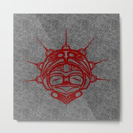 Blood Frog Smoke Metal Print