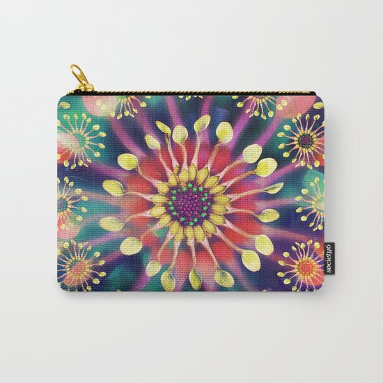 Flower Clock Carry-All Pouch