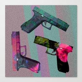 Pretty Pistols Canvas Print