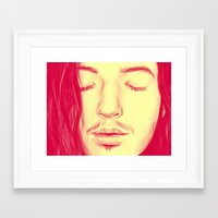 ezra koenig Framed Art Prints featuring Ezra Miller by Anna Kuzmicheva