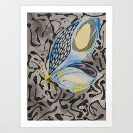 Notice me in Blue 3 Art Print