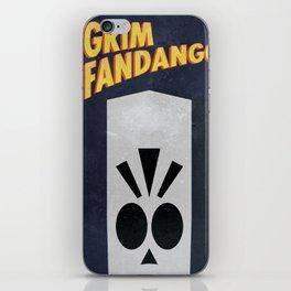 Minimalist Grim Fandango Poster iPhone Skin