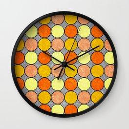Polka Brights (yellow/orange) Wall Clock