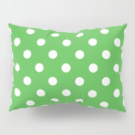 Green Polka Dots Palm Beach Preppy Pillow Sham
