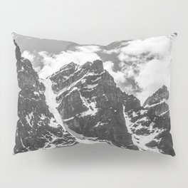 Mountains Black and White Photography Landscape Pillow Sham