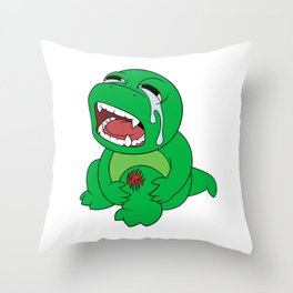 Little Dinosaur, Big Feelings (Ouch) Throw Pillow