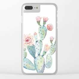 Cactus 2  White #society6 #buyart Clear iPhone Case