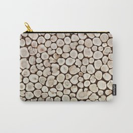 Background of wooden slices tree Carry-All Pouch