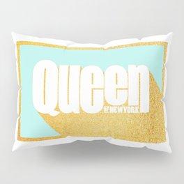 Queen of New York (Mint & Gold) Pillow Sham