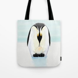 Penguin Dad and his Egg Tote Bag