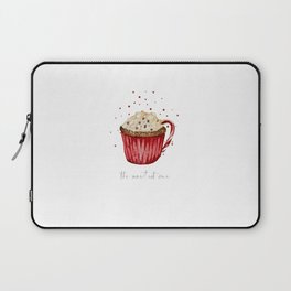watercolor red velvet cocoa cup Laptop Sleeve