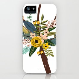 Bold Wildflower Bouquet iPhone Case