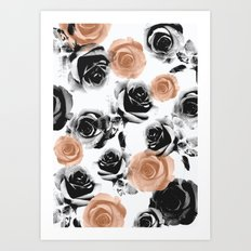 pixel rose Art Print
