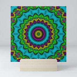Neon Kaleidoscope Mini Art Print