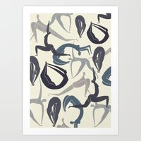 yoga Art Prints featuring Yoga by Lucy Feebs