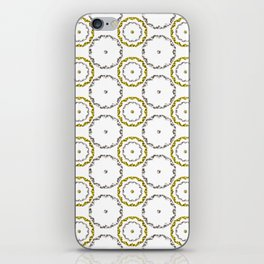 Gold and Silver Rings Polka Dot Pattern iPhone Skin