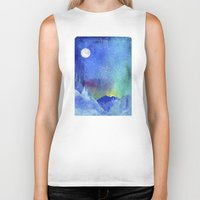 northern lights Biker Tanks featuring Northern Lights by Ricardo Moody