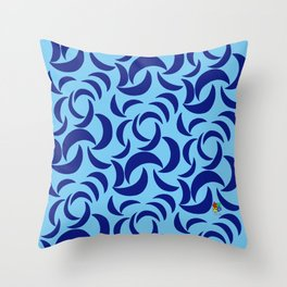 Many Moons - Blue Throw Pillow