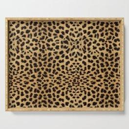 Cheetah Print Serving Tray