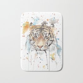 "Watercolor Painting of Picture ""Portrait of a Tiger"" Bath Mat"