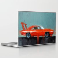 muscle Laptop & iPad Skins featuring The red muscle by mystudio69