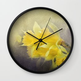 Out of the Darkness - Daffodil Flowers Wall Clock