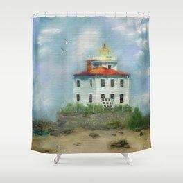 Mentor Headlands Lighthouse Shower Curtain