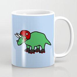 Roller Derby Triceratops Coffee Mug