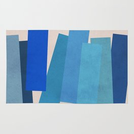 Blue Rectangles Rug