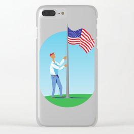 Stars & Stripes Clear iPhone Case