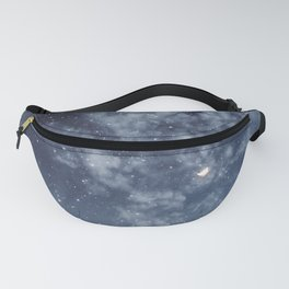 Blue veiled moon II Fanny Pack
