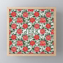 Jerk - Vintage Floral Tattoo Collection Framed Mini Art Print
