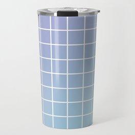 Lavender acqua minimalist grid pattern Travel Mug