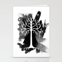 gondor Stationery Cards featuring White Tree Of Gondor by Icarusdie