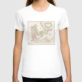 Vintage Map of Denmark (1750) T-shirt