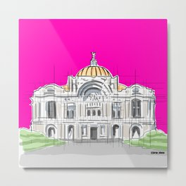 Bellas Artes architectural city ecopop Metal Print