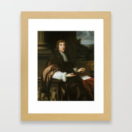 Portrait of a Mathematician,  Mary Beale, 1680 Framed Art Print