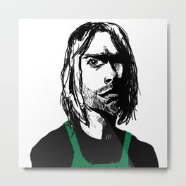 This is the Time Nirvana Got a Job at a Coffee Chain Metal Print