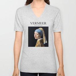 Vermeer - Girl with a Pearl Earring Unisex V-Neck