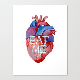 the human heart - eat me edition Canvas Print