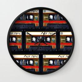 Retro cassette mix tape Wall Clock