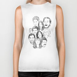 Parks and Recreation 'Rec a Sketch' Biker Tank
