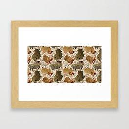 Grazing Sheep Framed Art Print