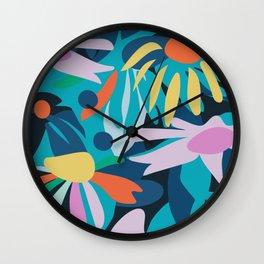 Blue meadow Wall Clock