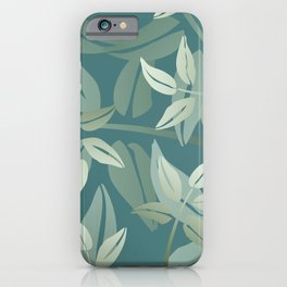 Leaf branch pattern green #leaves #society6 iPhone Case