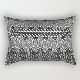 Akra in Black and White Rectangular Pillow