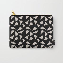 Paper Planes Pattern | Black and White Carry-All Pouch