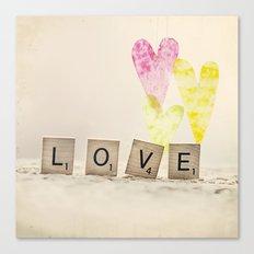Translucent Love Canvas Print