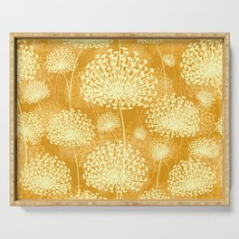 Yellow Dandelions Serving Tray